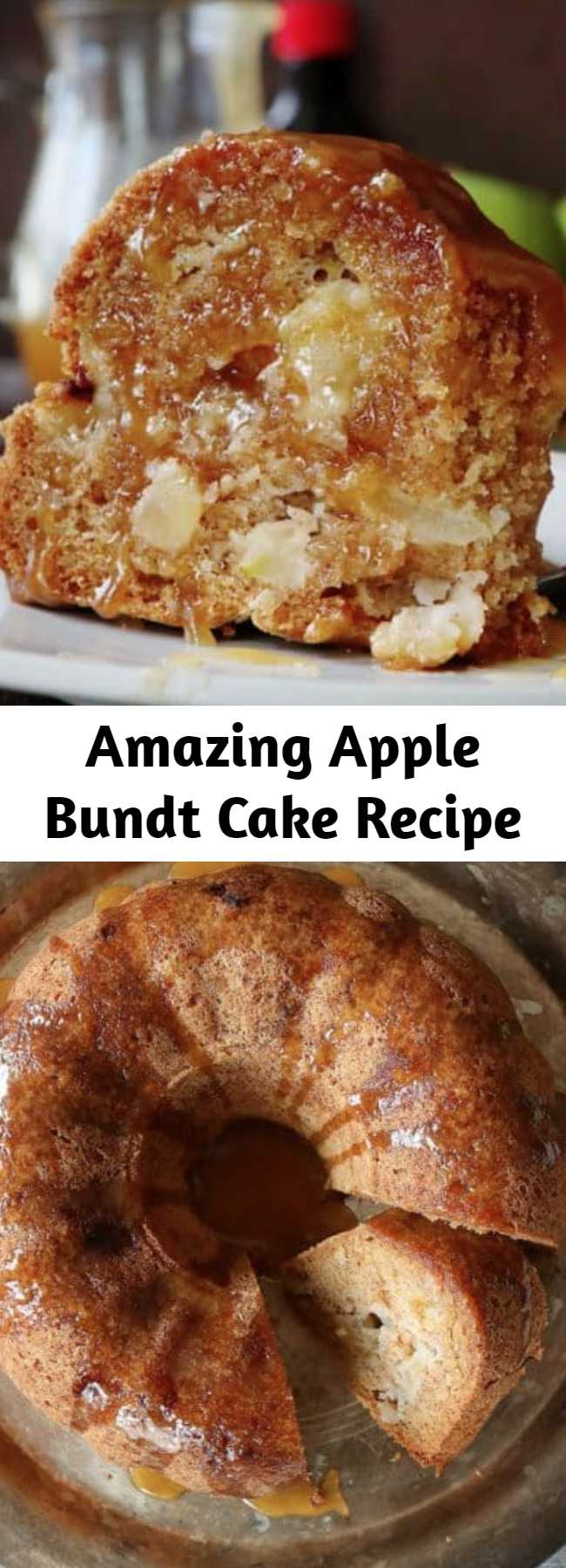 Seriously amazing Apple Bundt Cake that you will want to make again and again! This recipe has been handed down through the generations and definitely stands the test of time. #applebundtcake #baking #fallbaking #recipes #applecake #apples