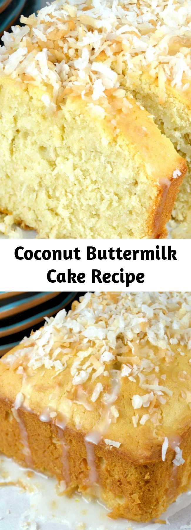 Coconut Buttermilk Cake Recipe