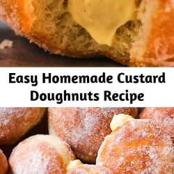 Easy, homemade, doughnuts - what more could you want? These simple doughnuts filled with a homemade custard recipe to die for are the perfect sweet treat to eat at any point during the day. Suitable for all ages (especially the kids), they will be sure to go down a treat!