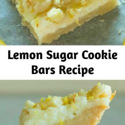 These easy lemon bars have a sweet sugar cookie crust topped with a tangy lemon cheesecake filling and then topped with more sugar cookie crumble. The perfect balance of sweet and tangy.