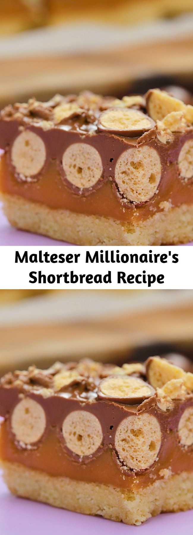 To all the Malteser fan out there, this is a next level Malteser Millionaire Shortbread!