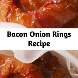 These ain't your grandma's onion rings. #food #easyrecipe #bacon #sides #sidedishes