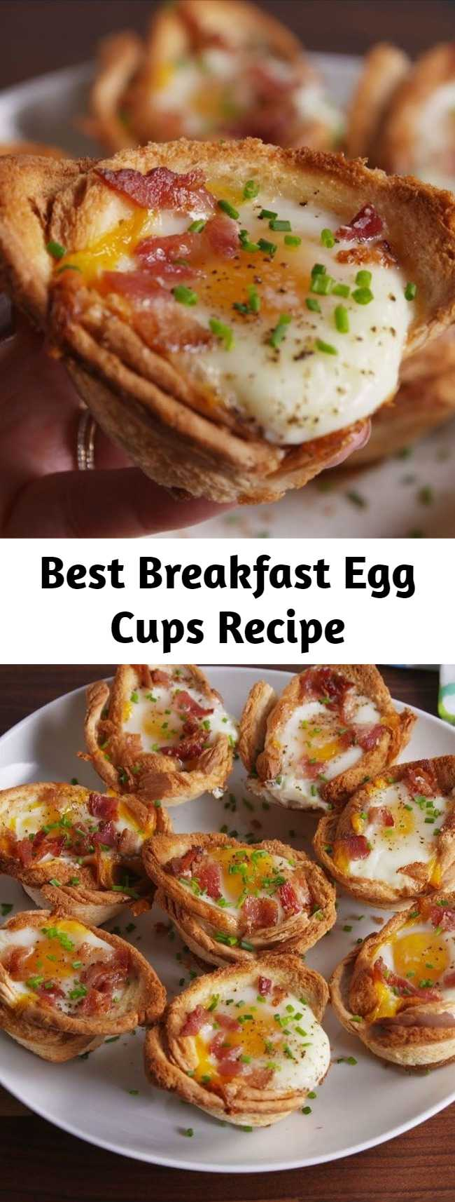 Best Breakfast Egg Cups Recipe - This Breakfast Egg Cups Recipe is the perfect breakfast on-the-go. #food #breakfast #eggs #brunch #easyrecipe