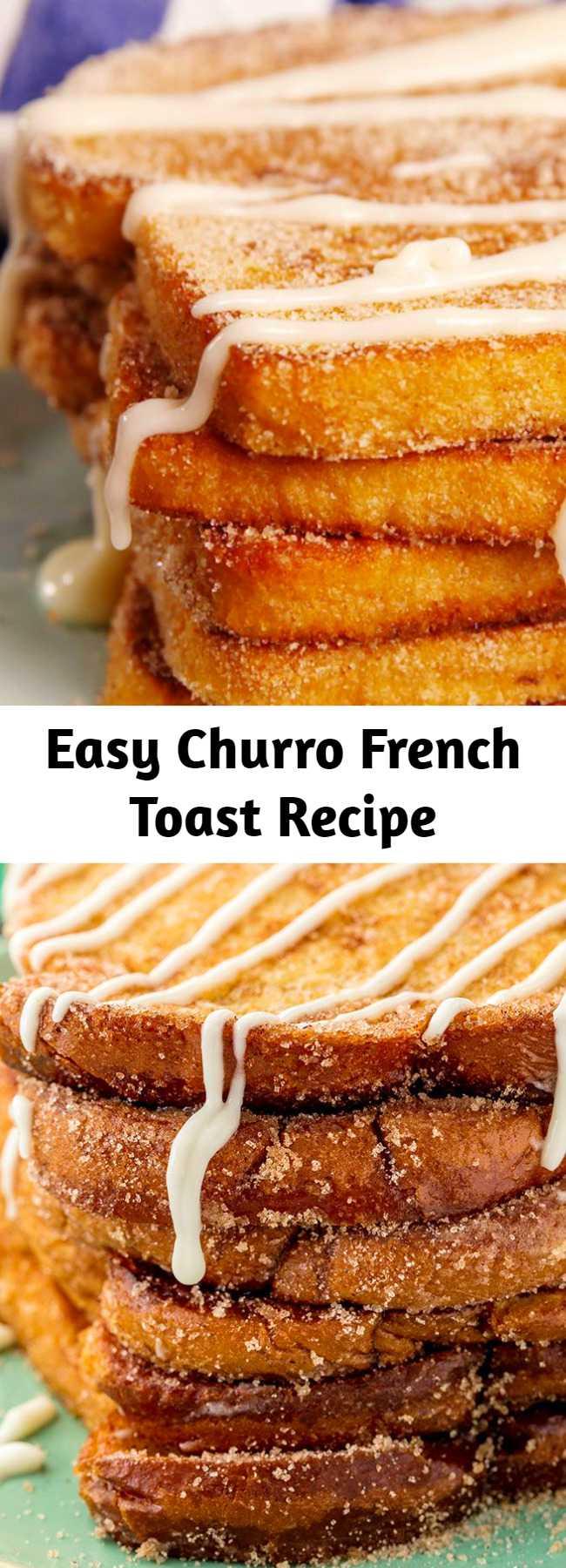 Churro-fy your breakfast! 😏 #easy #recipe #churro #frenchtoast #breakfast #cinnamon #sugar #brunch