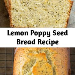My favorite lemon poppy seed bread! It's brimming with bright lemon flavor, perfectly sweetened and it has a deliciously soft texture. So lemony and delicious!!
