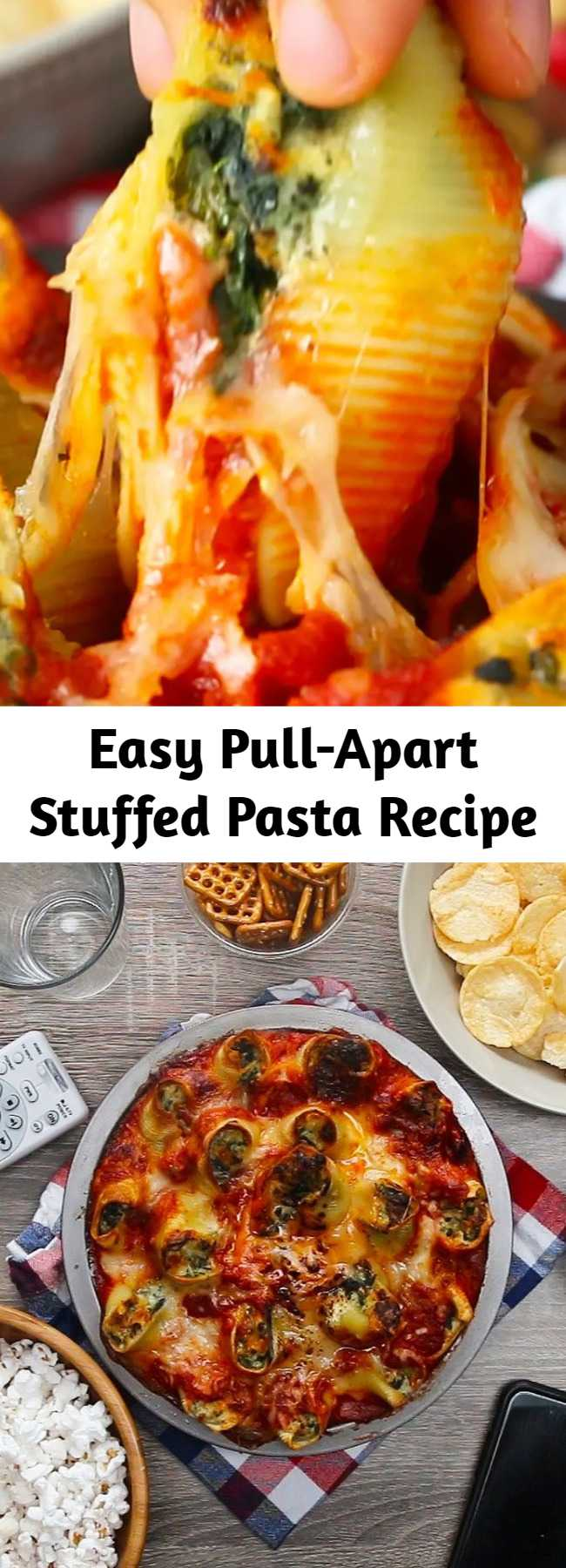 Easy Pull-Apart Stuffed Pasta Recipe - This Pull-Apart Stuffed Pasta Is Everything You Could Want In An Appetizer