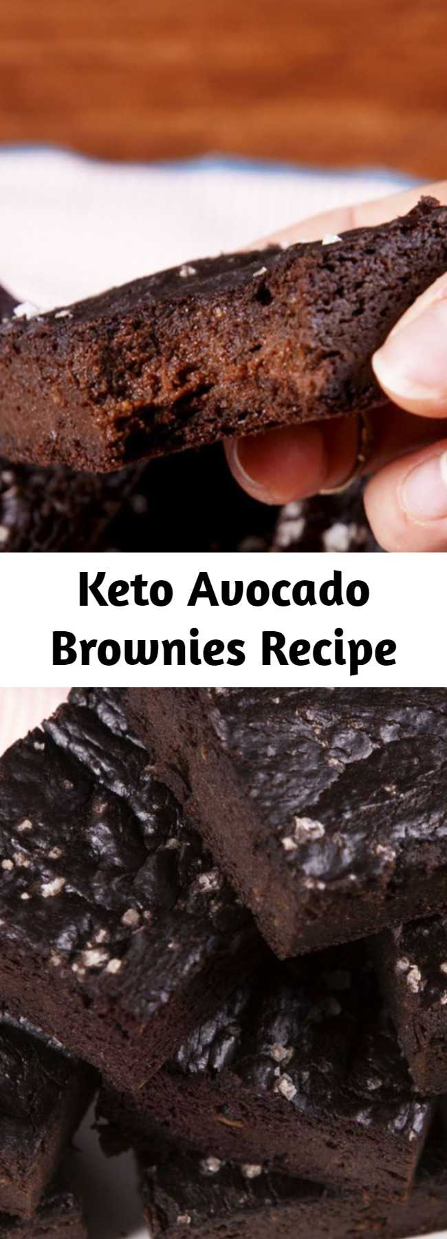 Keto Avocado Brownies Recipe - Who says you can't eat brownies when you're on the keto diet?! These keto brownies are the best. When the chocolate craving is strong. #food #easyrecipe #desserts #keto #healthyeating