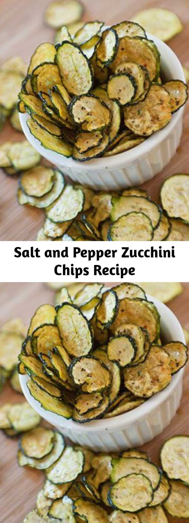 Salt and Pepper Zucchini Chips Recipe - This Dehydrated Zucchini Chips Recipe is SO good.  Full of flavors, slightly spicy. Amazing.