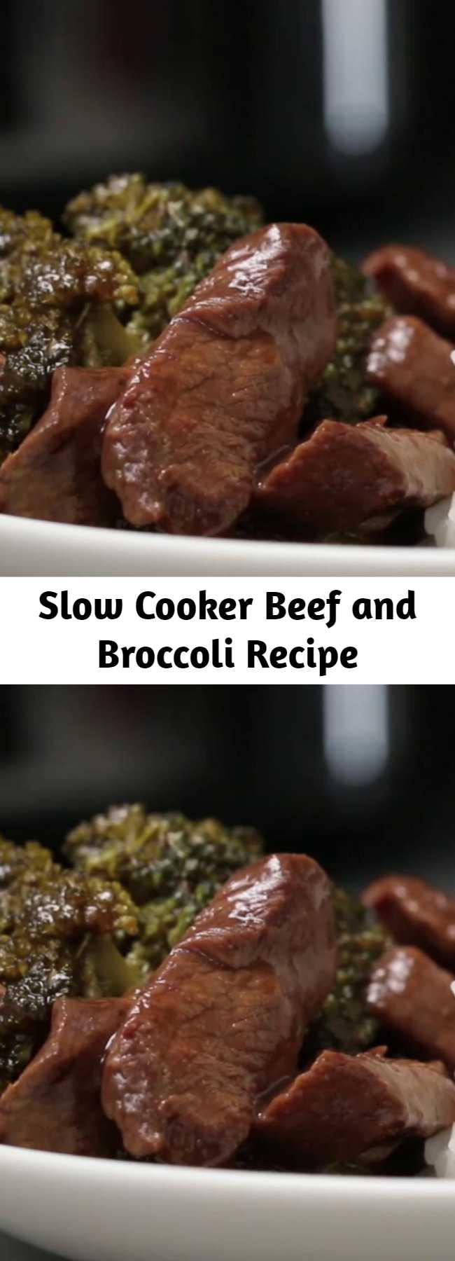 Slow Cooker Beef and Broccoli Recipe - This Beef and Broccoli takes just minutes to throw in the slow cooker. The beef melts in your mouth and the flavor is out of this world!