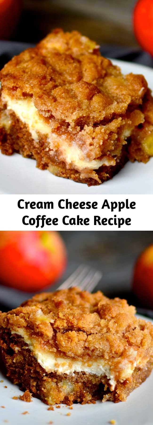 Cream Cheese Apple Coffee Cake Recipe - What a beautiful dessert. I love using the apples of the season.