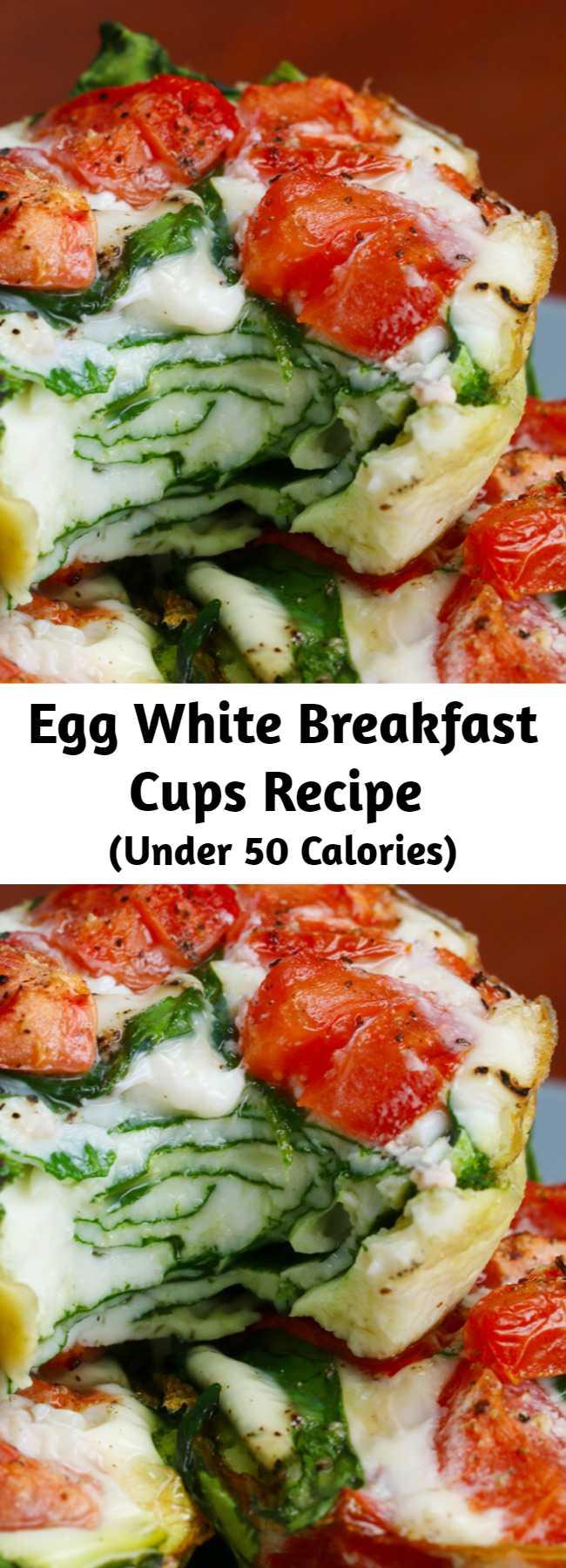 Egg White Breakfast Cups Recipe - Vegetarian · Gluten free · Paleo · Serves 6 · Egg White Breakfast Cups