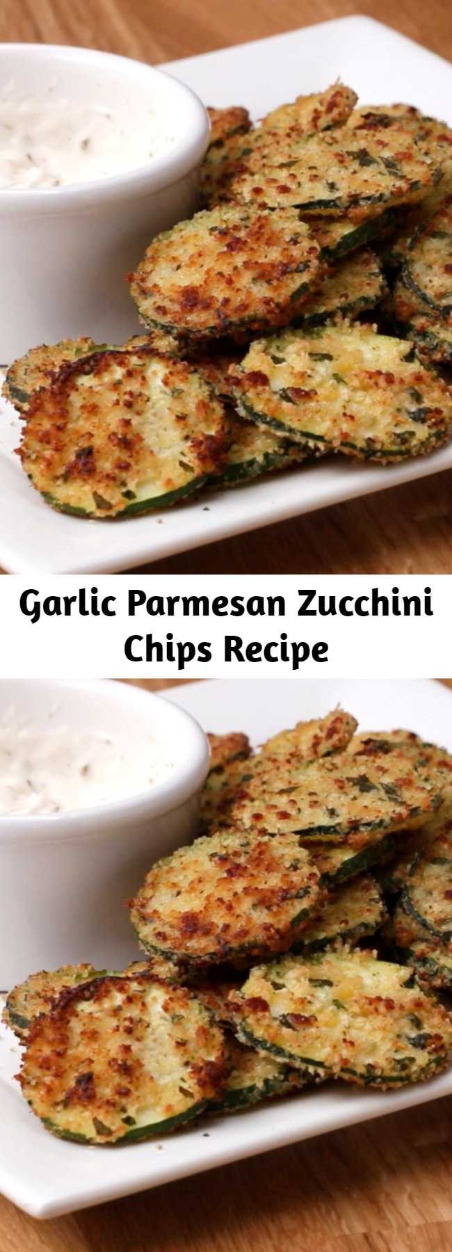 Garlic Parmesan Zucchini Chips Recipe
