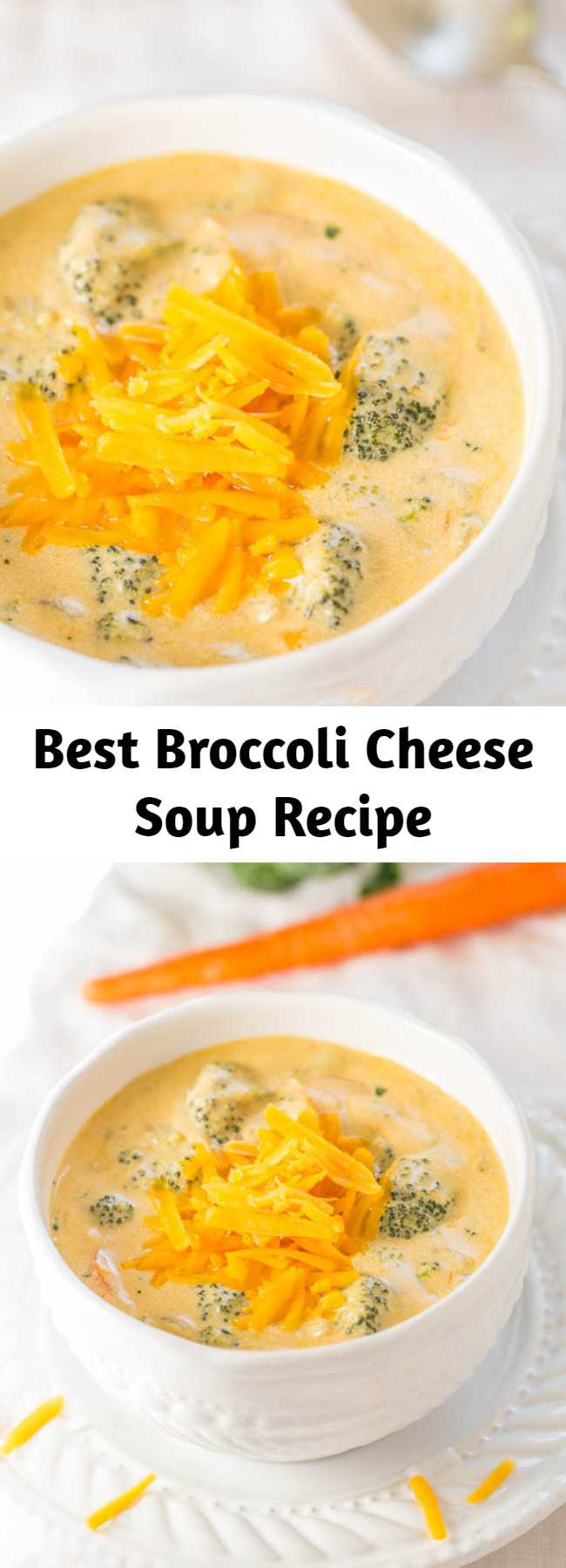 The Best Broccoli Cheese Soup Recipe (Better-Than-Panera Copycat. This is the best broccoli cheese soup. Not only that, it's some of the best soup I've ever tasted, period. If you like Panera's broccoli cheddar soup, this blows the pants off it. It's an easy soup to make and is ready in 1 hour. You'll be rewarded with the best, creamiest, richest, and most amazing soup.