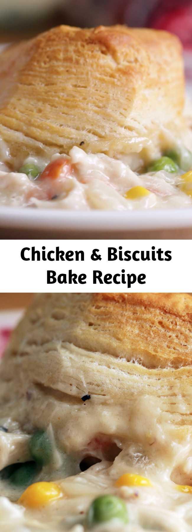 Chicken & Biscuits Bake Recipe