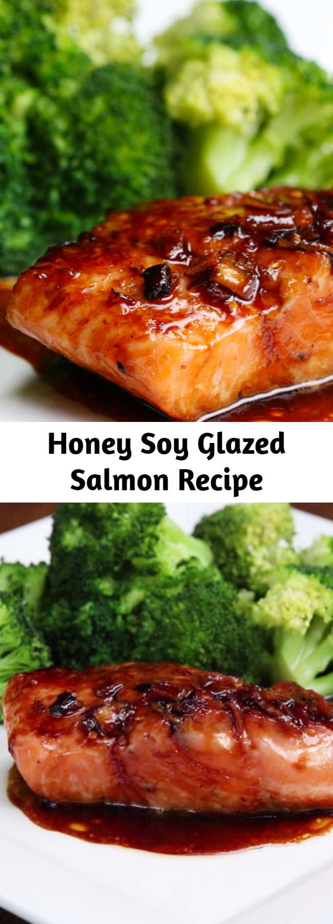 Honey Soy Glazed Salmon Recipe - Two words: honey salmon! Sure, it takes a tiny bit of prep work, but once you marinate your salmon, you won't be able to go back.