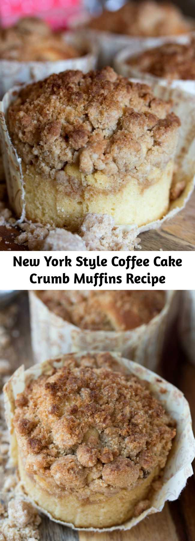New York Style Coffee Cake Crumb Muffins Recipe - If there is crumb in the name for crumb muffins, you better believe there should be a lot of crumb on top!