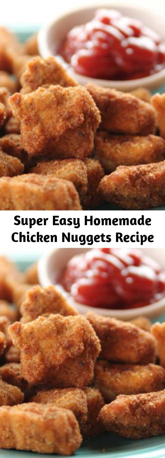 Super Easy Homemade Chicken Nuggets Recipe - Super easy to make and even more fun to eat!